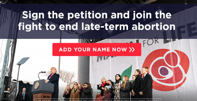 Sign the petition to join President Trump's Senate allies in the fight to end late-term abortions